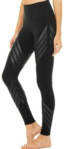 Alo yoga high waist air brush engineer print Xs